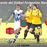 Firma del convenio del fútbol femenino navarro